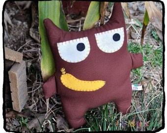 Chocolate banana greedy cat! 27x22cm