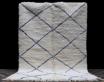 5x8 High quality Blue soft wool rug - Genuine Beni ourain rug - Authentic Beniourain rug - Moroccan rug - Morocco rug - Berber rug - boho