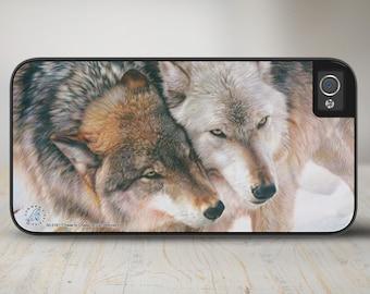 "Wolves iPhone 6 Case, Wolves iPhone   Case, Wolves iPhone Case Protective Wolf Phone Case ""Cheek to Cheek"" 50-3161"
