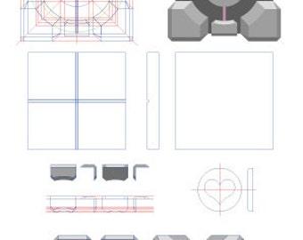 Cube Portal - Plans vectoriel au format .PDF