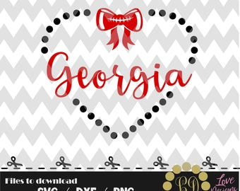 Georgia svg,png,dxf,bulldogs,cricut,silhouette,college,jersey,shirt,proud,birthday,go dawgs svg,butler,cutting,university svg,football,heart