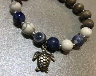 Howlite and Sodalite Gemstone Bracelet