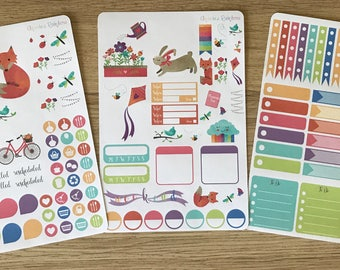 April Showers Weekly Kit - for use with Erin Condren LIFEPLANNER(TM)