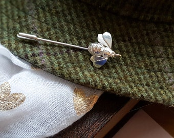 Bee Pin-Bee Brooch-Bee Scarf Pin-Bee Tie Pin-Bee Lapel Pin-Gift for Bee Keepers-Coat Pin