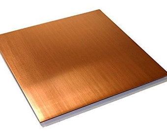 """Copper Sheet .016"""" Thickness - 12oz - 26 Ga - 11""""x11"""" - FREE 48 STATE SHIPPING"""