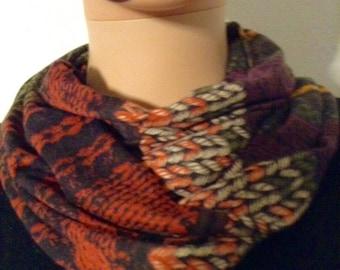 Fluid Jersey printed mutimatiere print scarf