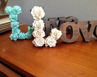 Wedding Table Signs - Centerpiece - Guest Table Decorations for Rustic, Beach and Barn Weddings - Love Signs