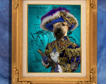 Soft Coated Wheaten Terrier Art Print 11 x 14 inch original illustration artwork giclee archival premium poster print By Nobility Dogs