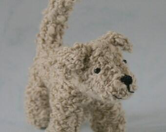 Custom Order for Maliaabc - Cashmere Cockapoo Dog with long ears - knitted, amigurumi, softie