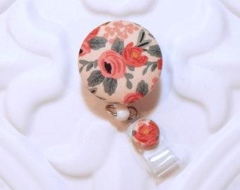 Flower Retractable Badge Holder - Nurse Badge Reel - Flower Id Holder - Badge Lanyard - Id Badge Holder - Name Badge Holder