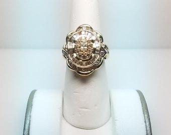 14k Gold Ring W/ 2ct Diamonds