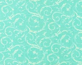 A beautiful aqua color wth swirls