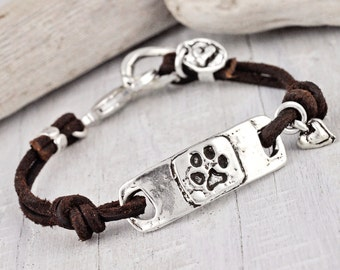 Dog Paw Bracelet - Puppy Paw Jewelry - I Love my Dawg Bracelet - B257