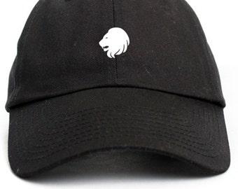 Leo Zodiac Sign Unstructured Adjustable Dad Hat Brand New-Black