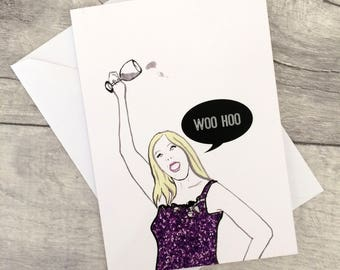 Woo Hoo- Real Housewives Vicki Gunvalson Note/Greetings Card/Invitation