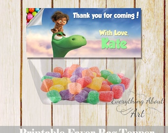 The good dinosaur favor bag topper Good dinosaur birthday Printable favor bag topper candies Arlo & Spot The good dinosaur thank you topper