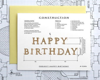 Project Happy Birthday (Yellow) - Instant Download Printable Art - Construction Series