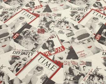 Fabric cotton polyester fashion magazin fashion journal title page