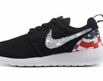 Blinged Out Black Flag Roshe