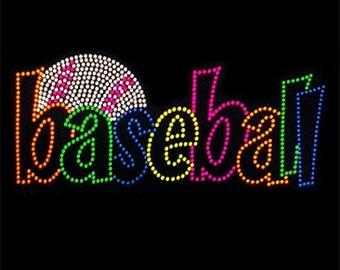 Adult Baseball neon rhinestud tee a11120d