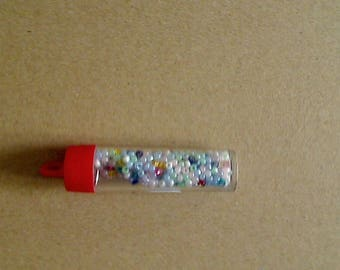 Variety of pastel seed beads