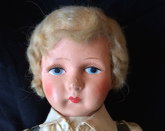 Antique Celluloid and Cloth Doll, Made in Germany - 1900