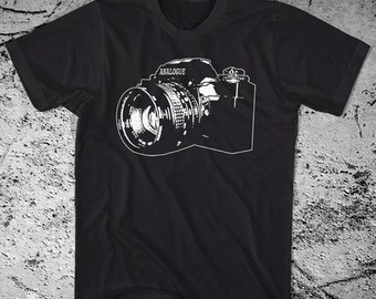 Vintage Camera Shirt. Printed on Ultra Soft Ringspun Cotton