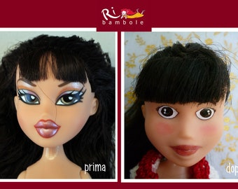 Dolls, Rb51, hand-painted doll, repaint doll, Ooak doll, Ooak doll repaint, Bratz repaint