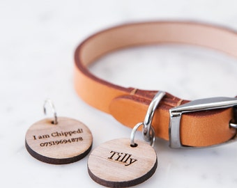 Personalised Wooden Pet Tag - Pet Lover Gift - Personalised Pet Tag - Gift for Pet Owner - Pet Accessory - Engraved ID Tag - Dog Lover Gift