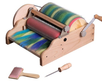 Ashfords New Extra Wide Drum Carder Available Free Shipping Free Packer Brush And A  Pound Of Merino And 4 Ounces Tussah Silk