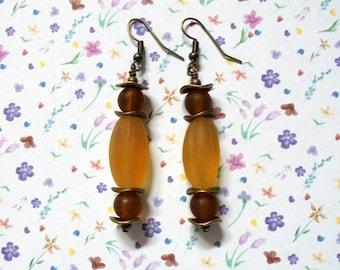 Matte Golden Yellow Earrings (2338)