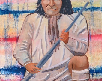 Geronimo - Print of Oil on Canvas