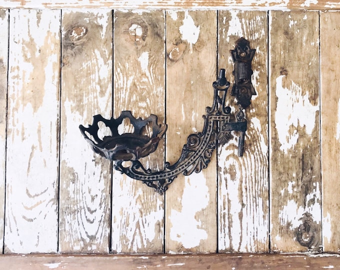 Vintage Candle Holder // Iron Wall Sconce