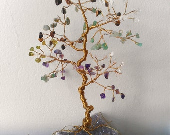 Large Gem Tree, Custom Order, Personalized Tree, Family Birthstone Tree, Wire Wrapped Tree, Jewel Tree