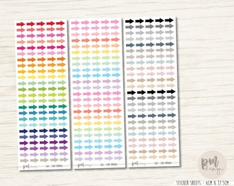 Tiny Arrow Stickers - Planner Stickers - S08
