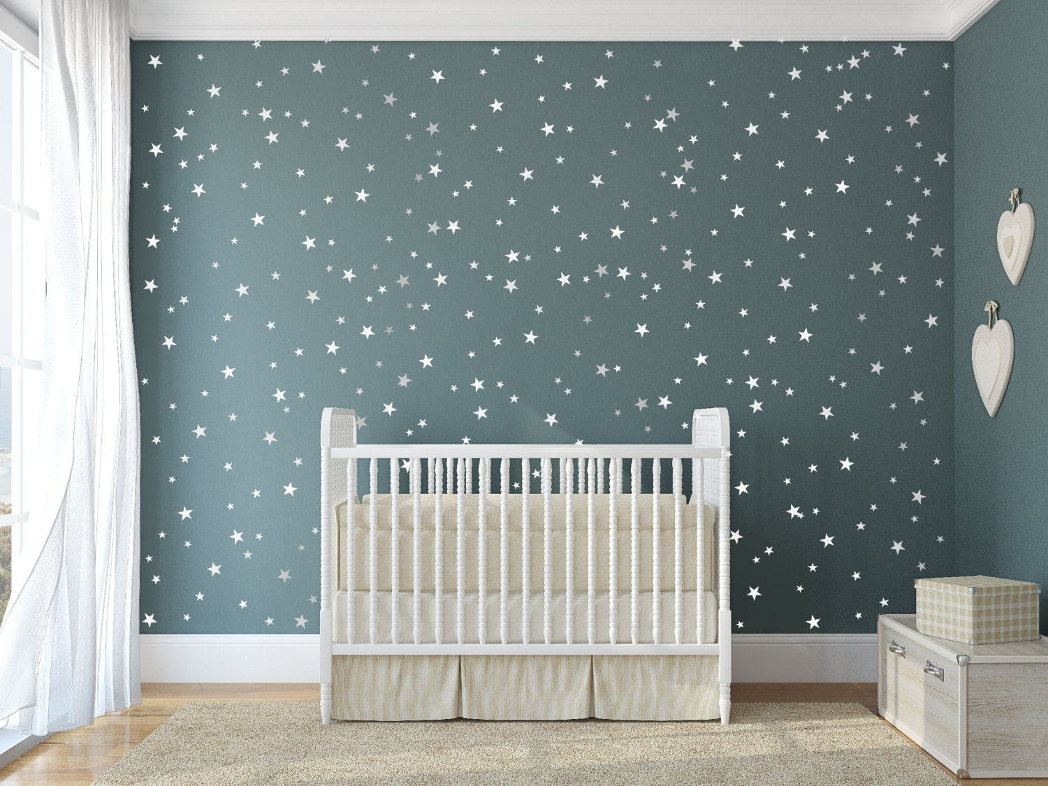 Vinyl star decals 148 silver stars star wall decal art zoom amipublicfo Choice Image