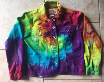 Tie Dye Jean Jacket The Territory Ahead Brand | Size M upcycled