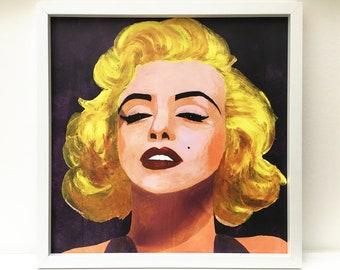 Marilyn Monroe Print 40x40cm / Marilyn Monroe Painting / Marilyn Monroe Portrait