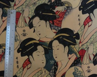 Alexander Henry Quilting Sewing Cotton Fabric BTHY, Asian, Sisters of the Golden Temple