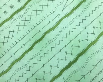 Clothworks Sew and Sew Light Green Stitches  Y8603-20