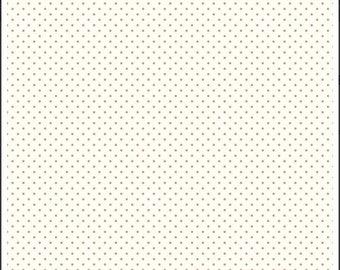 Riley Blake Designs, Swiss Dots in Cream Nutmeg  (C600)