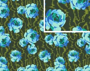 Flowing Buds - EMERALD - PER 25CM - Amy Butler - HAPI - PWAB119 - 100% Cotton Quilt Fabric