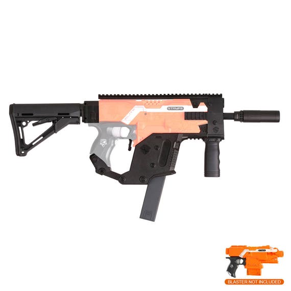 8 of 12 Worker Mod Kriss Vector Style Body Cover for Nerf Stryfe Toy Color  Black TOP FZ