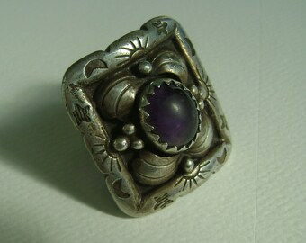 vintage southwestern moon and sun and star ring, size 7