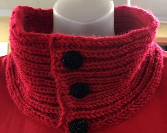Cowl Knitting Pattern, Brioche Cowl Knitting Kit, DIY Cowl, Create your own Cowl Knitting Kit, Learn to Brioche Knit
