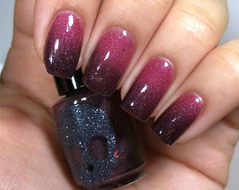 Black to pink Thermal PINKY & LEATHER TUSCADERO By Necessary Evil Polish