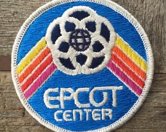 Disney World Epcot Center Vintage Souvenir Travel Patch from 1982