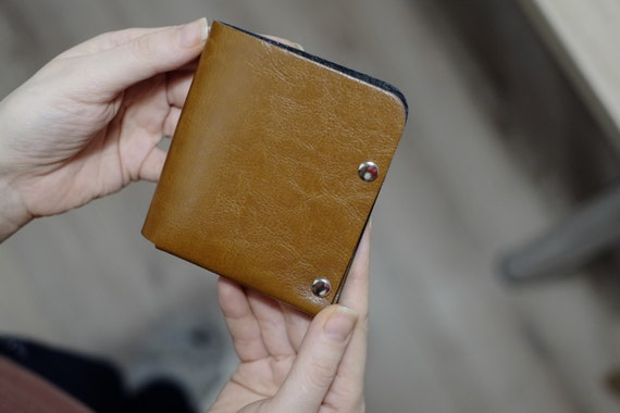 NERO Bifold Wallet  Mens Wallet, Minimalist Wallet, Leather Wallet, Womens Wallet