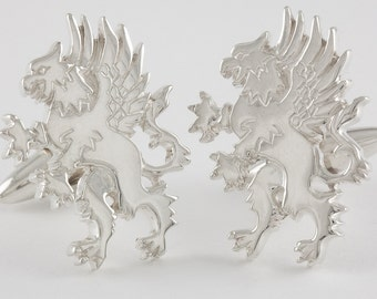 Griffin Cufflinks, Sterling Silver, personalized