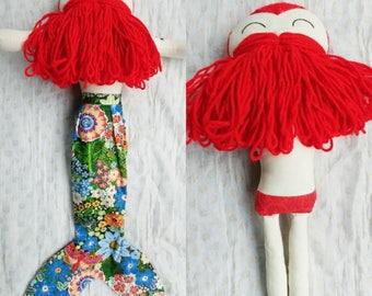 Mermaid doll/Merman/ Mermaid doll with detachable tail